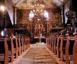 Interiér dreveného kostolíka v Kežmarku